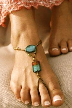 shoes, sandals, turquoise, fashion, chains: Barefoot Sandals 3, Bracelet, Barefoot Sandals Boho, Idea, Foot Jewelry, Style, Beach Weddings, Feet Jewelry