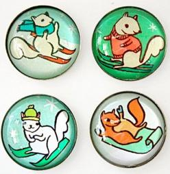 skiing squirrels glass magnet set at http://shop.boygirlparty.com: Skiing Squirrels, Gift, Squirrels Magnet, Glass Magnet, Winter Squirrels, Ski Squirrel, Squirrel Magnets, Magnets Etsy