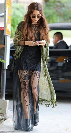 Super cuteness going on.   Hippie hippie chic: Elements of the 24-year-old actress outfit embraced gypsy culture: Vanessa Hudgens, Boho Chic, Fashion, Hippie, Style, Dress, Outfit, Vanessahudgens