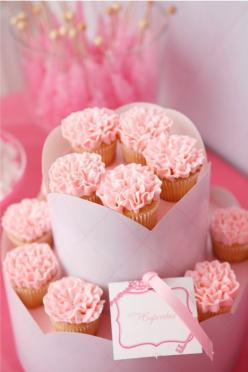 sweet pink cupcakes: Cup Cakes, Ruffle Cupcake, Pink Ruffle, Idea, Sweet, Food, Wedding, Pink Cupcakes, Valentine