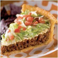 Tacos without all of the mess.  If you like Taco you have got to like Taco Pie and it is really easy to make.  Enjoy.