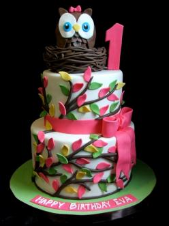 thanks @Kimberly Peterson Hall for showing this to me!  i want it for my next birthday cake...although i won't be one <3: 1St Bday, Food, Cake Ideas, 1St Birthday, Owl Cakes, Party Ideas, Owl Birthday Cakes, Birthday Party, Birthday Ideas