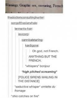 Tumblr, humour, funny, lol, haha, chat post, text post: Dexter, Stuff, Random, Funny, Things, French, Ohio Catches