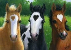 Valentine foals - hearts: Beautiful Horses, Valentine Foals, Animals, Equine, Valentines Day, Things, Valentine S