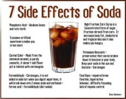 While this great picture doesn't cover ALL of the dangerous side-effects of Soda Pop, it's a great summary. Definitely DON'T sub Regular for Diet - that's just as bas or worse! If you or your kids need help getting OFF this TOXIC beverage,