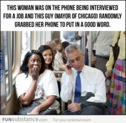 why? because he can.  faith in humanity restored.: Rahm Emanuel, More, Awesome, Guy, Faith In Humanity Restored, Funny, Chicago, People