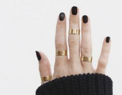 Yellow Gold Thick Stacking Ring – Vrai & Oro: Midi Rings, Black Gold Rings, Gold Stacking, Jewelry Lover, Jewelry Accessories, Rings Gold, Stacking Rings, Things, Jewels