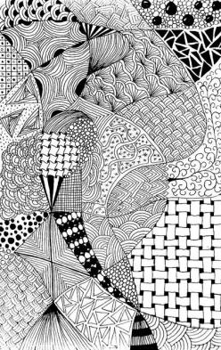 Zentangle #57 - Bored #7 by hilda_r, via Flickr: Zentangle 57, Doodle Patterns, Adult Coloring, Zentangle Drawing, Doodle Ideas, Flickr Zentangle, Zentangle Patterns, Alternating Patterns