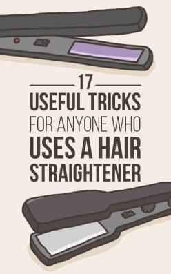 17 Useful Tricks For Anyone Who Uses A Hair Straightener: Beauty Tip, Hair Hack, Hair Tip, Hair Straightener, Hair Trick, Makeup Hack, Hairstyle