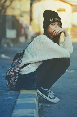 Better is the fact that someone said they found me and sent me this.: Fashion, Girl, Clothes, Street Style, Bad Hair, Styles, Beanie, Hipster Outfit, Has