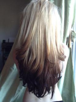 Blonde to dark brown ombre, long hair. Never seen this way before, gotta be a risktaker for this one!: Hair Ideas, Hair Colors, Reverse Ombré, Hairstyles, Hair Styles, Haircolor, Ombre Hair, Makeup, Reverse Ombre