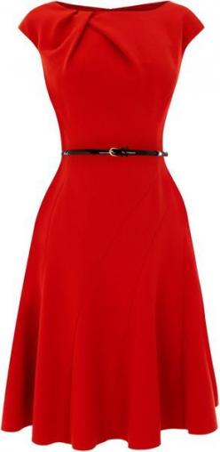 Coast red dress...like the shape, not sure about that bunching on the collar. Makes it look like it was too big and they pinned it up.: Sexy Red Dress, Classy Red Dress, Red Dresses, Style, Red Christmas Dress, Modest Christmas Dress, Classy Christmas Dre