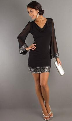 cocktail dress... I will buy this dress when I find it!!: Cocktaildress, Style, Cocktail Dresses, Sleeve, Little Black Dresses, Black Cocktail Dress