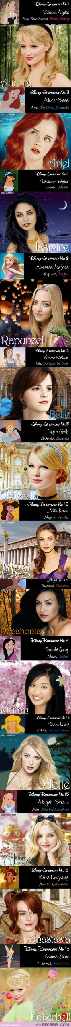 Disney Dreamcast. My wife and daughters would probably like these choices. I think whoever picked these girls did a good job. What do you think?: Disney Stuff, Taylor Swift, Real Life, Disney Dreamcast, Disney Princesses, The Swan Princess, Disney Charact