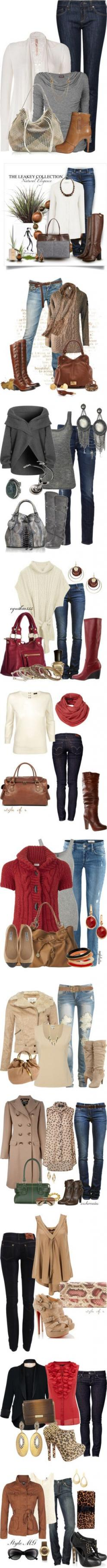 fall outfits...these make me wish I could wear jeans to work. :): Fashion Ideas, Skinny Jeans, Outfit Ideas, Fall Outfits, Winter Outfits, Fall Fashion, Jean Syndrome, Fabulous Fall, Fall Weather