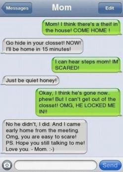 Funny Text Message. I could see my dad doing this to me. he used to prank call me all the time.: Funny Texts, Giggle, Funny Stuff, Funnies, Mom, Kid