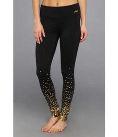 Glam, glittering running tights from ASICS. #sporty #chic #zappos