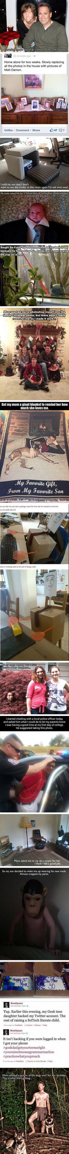 Here are some funny examples of geeky kids thinking outside the box.