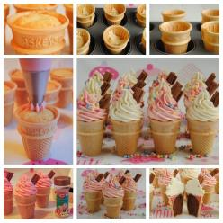 Ice cream cone cupcakes make a fun birthday party treat for kids. Kids will love eating their cake in a cone instead of on a plate!  Check recipe--> http://wonderfuldiy.com/wonderful-diy-ice-cream-cone-cupcakes/  More #DIY projects: www.wonderfuldiy.co
