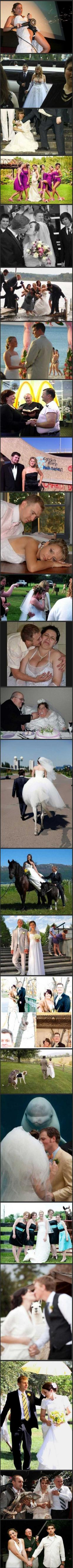 Mostly unfortunate wedding photos.. So so bad: Awkward Wedding, Giggle, Wedding Photos, Funny Wedding, Wedding Pictures, So Funny