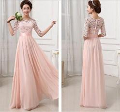 New beaded long bridesmaid prom Formal Evening Cocktail Party Ball Gown dresses in Dresses | eBay: Half Sleeves, Maxi, Bridesmaid Dresses, Wedding Dress, Lace Chiffon, Prom Dresses