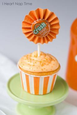 Orange cream cupcakes: Jello Topped, Orange Cream, Creamsicle Frosting, Cream Cupcakes, Amazing Cupcake, Cup Cake, Diy Craft, Crush Cupcakes, Orange Crush
