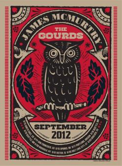 Pete Cardoso - James Mcmurtry - Gourds, The: Poster Design, James Mcmurtry, James D'Arcy, Owl, Gourds, Music Posters, Graphic Design Posters, Drawings Posters