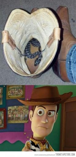 please don't make me say it.<<<nobody explain please, if you don't get it you never had a childhood: Giggle, Toy Story, Funny Stuff, Funnies, Disney, Snakes, Boots