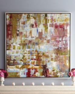 Such pretty colors, and hung on a lavender/gray wall....stunning!: Wall Art, Colors, Pinks Giclee, House, Products, Pretty, Neimanmarcus, Room