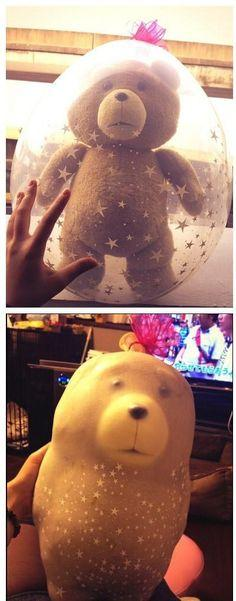 This bubble bear tragedy: | 26 Pictures That Will Make You Have To Laugh To Keep From Crying: Idea, Funny Pics, Funny Pictures, Teddy Bears, Funny Stuff, Funnies, Balloon
