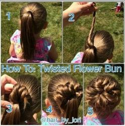 This hairstyle is great for little girls or even an easy wedding hairstyle for a flower girl or bridesmaid.: Hair Ideas, Hairstyles, Hair Styles, Hair Do