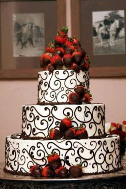 This would make such a cute wedding cake!  Starting a Catering Business  Start your own catering business  http://www.startingacateringbusiness.com: Chocolate Covered Strawberries, Wedding Ideas, Weddings, Cake Ideas, Beautiful Cake, Wedding Cakes, Dream