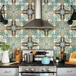Tile - a little busy, but love the colors.  Maybe in a small space, like an insert in the center of an island or just a backsplash behind the range? : Decor, Kitchens, Interior, Inspiration, Kitchen Backsplash, House, Kitchen Ideas, Design