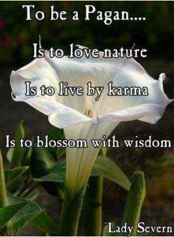 To be a Pagan...  Is to love nature  Is to live by karma  Is to blossom with wisdom  -Lady Severn: Pagan Wiccan Witch Scale, Pagan Witchy, Wicca Paganism, Witchy Ways, Wiccan Pagan, Pagan Stuff, Paganism Quotes, Shamanism Paganism, Spirituality