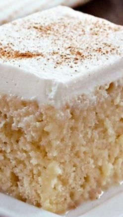 Tres Leches Cake ~ It's simple, easy and perhaps the moistest cake you'll ever have with a unique flavor you cannot find in most nonhispanic bakeries and restaurants.: Easy Birthday Cake, Bakery Cake Recipe, Easy Cake Recipe, Simple Birthday Cake, Tres Le