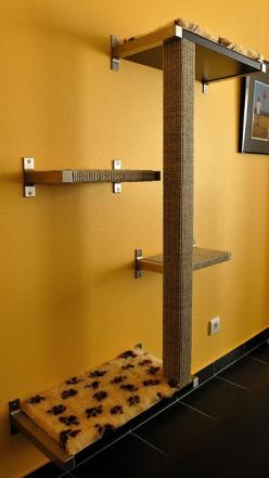 Centro de Recreo para Gatos Contáctenos y cotice con nosotros! http://sleepets.wix.com/sleepets: Pet, Cats Spend, Cat Trees, Cat Stuff, Cat House, Diy Cat, Cat Tree Idea
