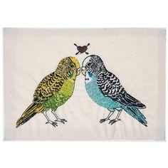 Coral and Tusk - parakeet love embroidered stationery    Love Birds!: Parakeets, Coral, Budgie, Art, Embroidered Stationery, Tusk, Products, Embroidery