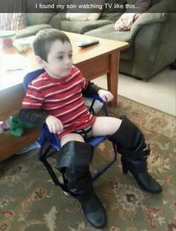 Funny Pictures Of The Day – 90 Pics: Funny Pictures, Sons, Funny Stuff, My Son, Boots, Kid