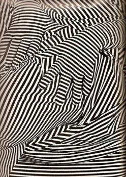 stripes on stripes: Optical Illusions, Inspiration, Pattern, Opart, Hands, Black White, Op Art, Stripes, Design