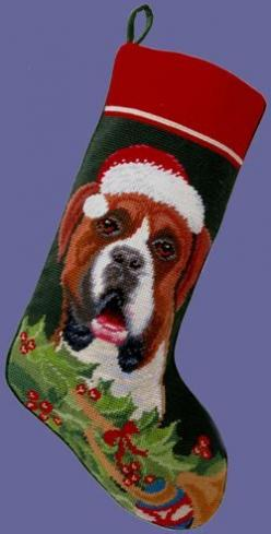 Boxer (Uncropped) Dog Christmas Stocking (P): Breed Christmas, Boxers Melt, Cheer, Dog Chic, Christmas Stockings, Dog Stuff, Boxer Uncropped, Dog Breeds