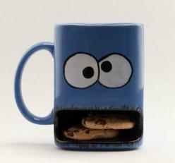 Cookie Monster Mug...i need this<3: Cup, Cookie Monster, Idea, Stuff, Monsters, Mugs