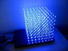 DIY LED Cube We could do on a much larger scale for 80/35 like 20ftx20ft