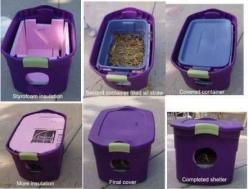 Got feral cats in the backyard? Keep 'em warm this winter. | 26 Hacks That Will Make Any Cat Owner's Life Easier: Cats, Idea, Feral Cat, Pet, Outdoor Cat, Cat House, Diy, Animal