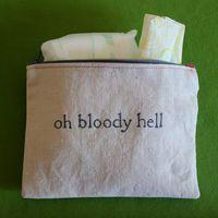 OH MY GOODNESS, this is awesome.: Giggle, Tampon Bag, Zipper Pouch, So Funny, Feminine Products, Bloody Hell