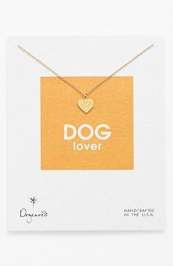 UM LOVE - Dogeared 'Reminder - Dog Lover' Boxed Pendant Necklace available at #Nordstrom: Stocking, Mother, Dog Lover Gift, Friend
