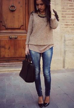 28 Stunning Combinations For Late Summer And Early Autumn: Chic Outfit, Skinny Jeans, Casual Chic, Late Summer Outfit, Fall Fashion, Fall Outfit, Fallwinter, Fall Styles, Fall Winter