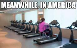 50 Funniest Meanwhile, in America Meme Pics & Gifs: Fitness, Funny Stuff, Humor, Funnies, Things, Gym, Meanwhile In America