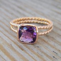Amethyst roped in: David Yurman, Style, Color, Jewelry, Accessories, Amethyst Rings, Rose Gold