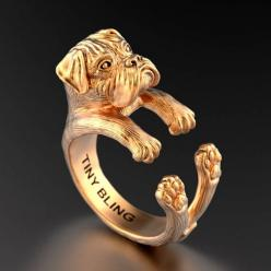Boxer Breed Natural Ears Jewelry Cuddle Wrap Ring: Boxer Rings, Boxer Dogs, Amazing Boxer, Boxers, Pawsome Rings, Boxer Breed, Rings Men Women, Dog Jewelry