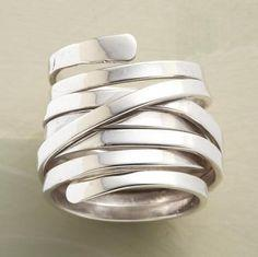 Bucceletti - I like this ring especially if you don't want both engagement ring and wedding ring.  This could do the work for both.: Wedding Ring, Diamond Rings, Diamonds, Blingbling, Sparkle, Engagement Ring, Bling Bling